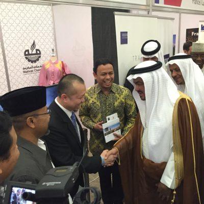 Hasan Gaido bersama Mohammad Saleh bin Taher Banten, Menteri Haji & Umrah Arab Saudi