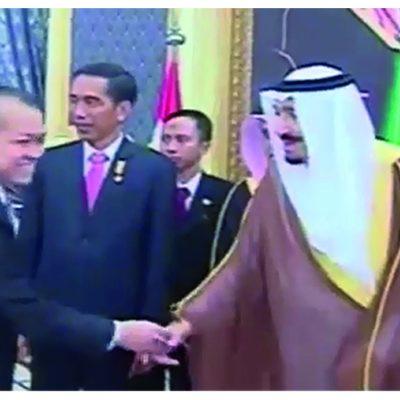 Hasan Gaido bersama Raja Saudi Arabia, Raja Salman bin Abdul Aziz dan Presiden Republik Indonesia, Joko Widodo
