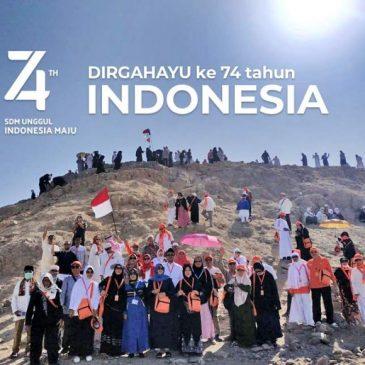Sangsaka Merah-Putih Berkibar di Jabal Uhud; dari Madinah untuk Indonesia